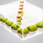 """Clear canapé box"""