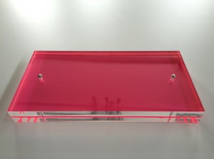 Neon pink canapé tray
