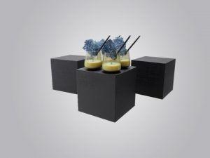 """""""Perspex buffet risers for hire"""""""