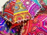 Indian cotton umbrellas parasol